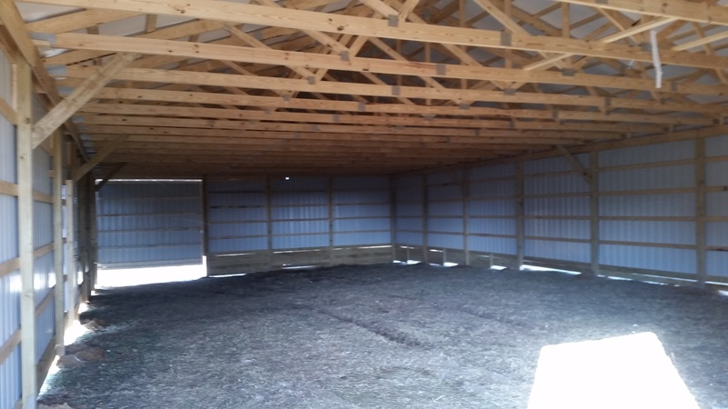 40 X 80 Pole Barn Interior
